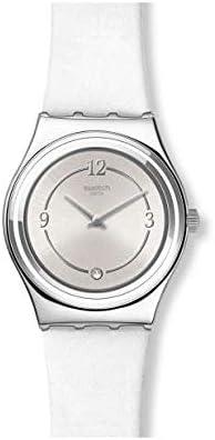 Swatch Reloj Analógico para Mujer de Cuarzo Suizo con Correa en Cuero Genuino YLS213