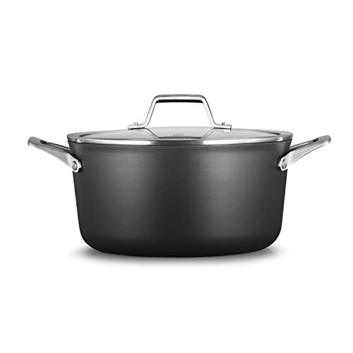 (Calphalon 2029623 Premier Hard-Anodized Nonstick 6-Quart Stock Pot with Cover, Black)