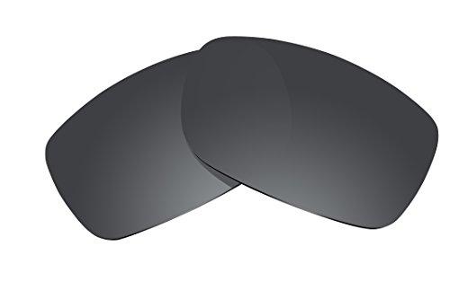 BVANQ Replacement Lenses Polarized for Oakley Fives 3.0 Sunglasses (Stealth - Fives Oakley 3.0 Sunglasses
