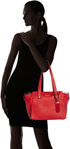 Piquadro Shopping Bag Collezione Sirio Borsa a spalla, Pelle, Rosso, 30 cm