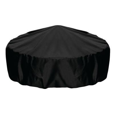 Smart Living 2D-FP60001 Home and Garden Fire Pit Cover with Level 4 UV Protection, 60-Inch, Black (Two Dogs Designs Fire Pit Cover)