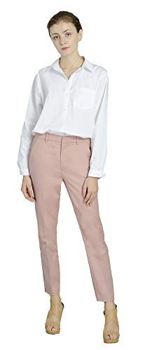 Marycrafts Women's Work Ankle Dress Pants Trousers Slacks Pink1,X-Small,Pink 1 ()
