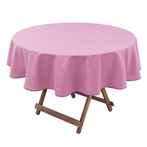 Hiasan Round Tablecloth 108 Inch – Waterproof Stain Resistant Spillproof Polyester Fabric Table Cloth for Dining Room…