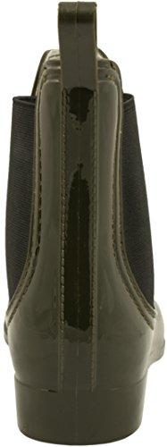 Elara - Botas plisadas Mujer verde oliva