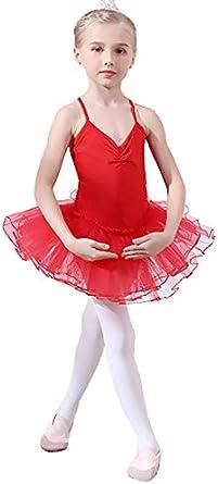 Yuanu Ragazze Tutu Abbigliamento da Balletto Costumi Danza Principessa Vestito Leotard Fionda Tops Mesh Gonna per Balletto//Danza//Ginnastica