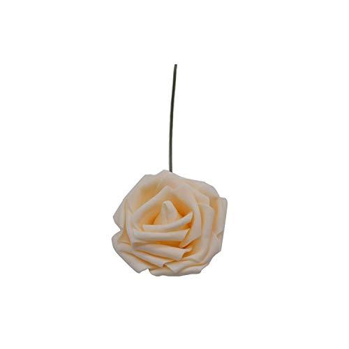 10Heads 8Cm Artificial Pe Foam Rose Bouquet Bridal Fake Flower Wedding Birthday Party Home Decor Scrapbooking DIY Craft Supplies,Champagne