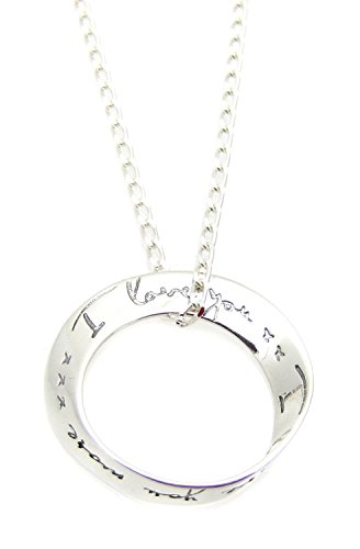 Heart Projects Sterling Silver I Love You, I Love You More Circle Charm Necklace 18