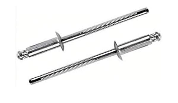 Pack of 50 SS Blind Rivet 1//8 Dia for .188-.25 Thick -