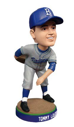Tommy Lasorda LA Dodgers Brooklyn Hat SGA 2014 Los Angeles Dodgers Bobblehead ()