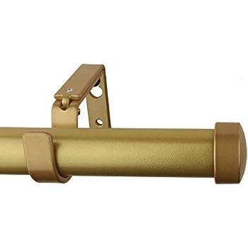 meriville 1inch diameter end cap single window treatment curtain rod 48inch