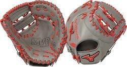Mizuno Mvp Prime Se 12.5 Inch First Base Glove 2 Piece Grey/Red Right Hand (Mizuno First Base Glove)