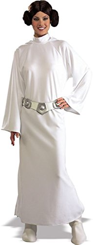 UHC Women's Deluxe Star Wars Princess Leia Halloween Themed Adult Fancy Dress, Standard (8-12) -
