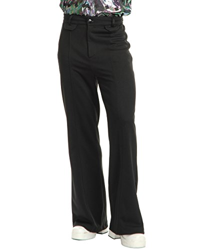 Charades Men's Disco Pants, Black, 40 -