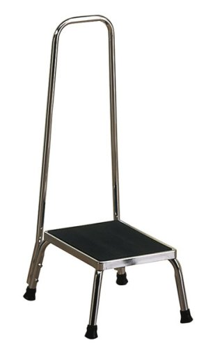 Brewer Medical Chrome Step Stool W/ Hand Rail