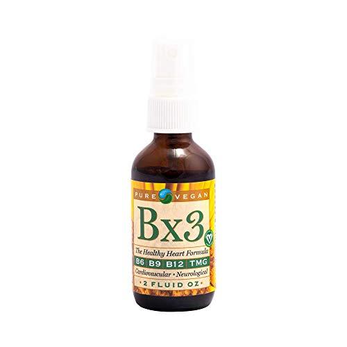 Pure Vegan Bx3 Liquid Vitamin B Spray, 2 Ounce