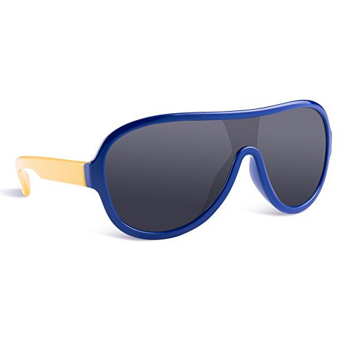 SEEKWAY Kid's Polarized Silicon Rubber Sunglasses For Toddlers Children Age 3-10 SRK095(Navy Blue,Black Polarized (Cheap Coloured Contact Lenses)