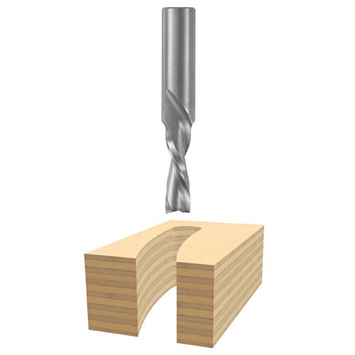 Bosch 85905M 3/8 In. x 1-1/4 In. Solid Carbide 2-Flute Downcut Spiral Bit