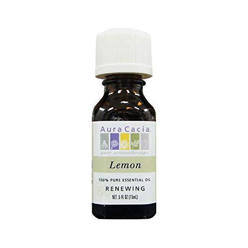 Cacia Fruit Perfume Aura Natural - Aura Cacia Essential Oil Lemon, 0.5 oz.