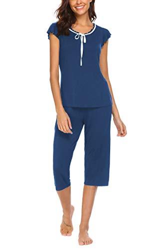 (MAXMODA Women's Sleepwear Capri Sets Women Sleepwear Womans Pajamas PJS)