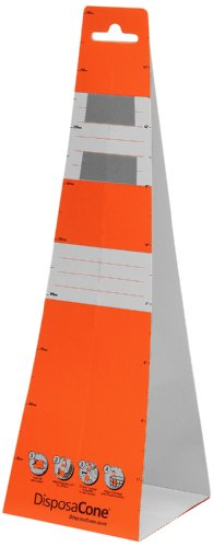 DisposaCone 1872 Recyclable Temporary Disposable Traffic Safety Barricade, 18