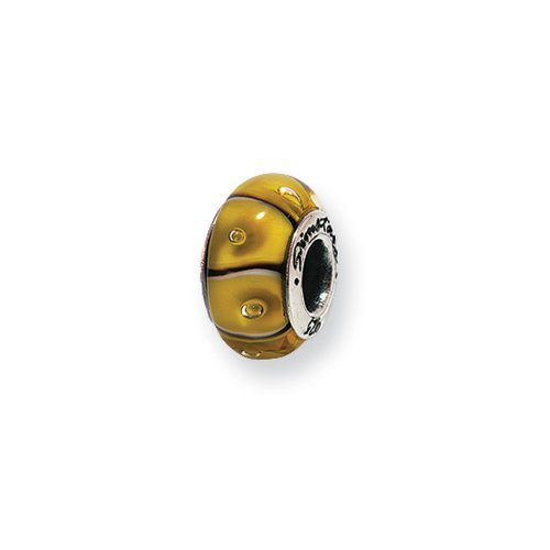 Yellow Striped Glass Sterling