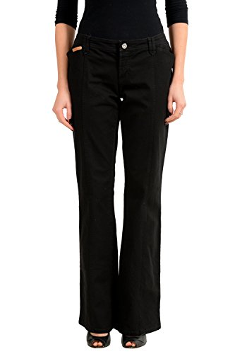 Dolce & Gabbana Black Denim Women's Straight Leg Jeans US 9 IT 45 - Dolce & Gabbana Straight Leg Jeans