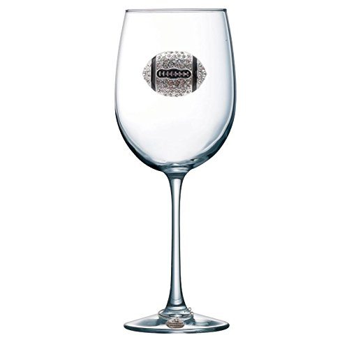 Football Jeweled (Football Jeweled Stemmed Wine Glass)