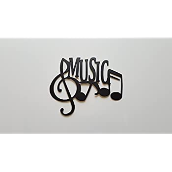 Music Word And Music Notes Metal Wall Art Decor