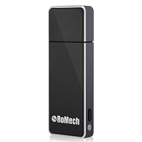 for Lectures - RoMech 8GB Digital Sound Audio Tape Recording Device, 512 kbps, Dictaphone, Mac Compatible, USB Rechargeable (Black) ()