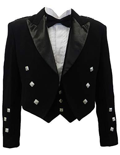 UT Kilts Prince Charlie Jacket and Vest Men's (46 Regular) - Prince Kilt Charlie