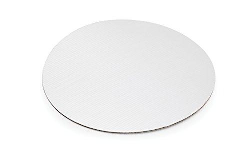 (Fox Run 48738 12-Piece Cardboard Scalloped Cake Circle Base, 10 x 10 x 0.25 inches, Silver)