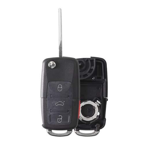 2003 Vw Gti - Heart Horse 4 Buttons for VW Volkswagen Jetta Passat Golf Beetle Rabbit GTI CC EOS Flip Remote Entry Key Case No Chips 1J0959753AM 1J0959753DC