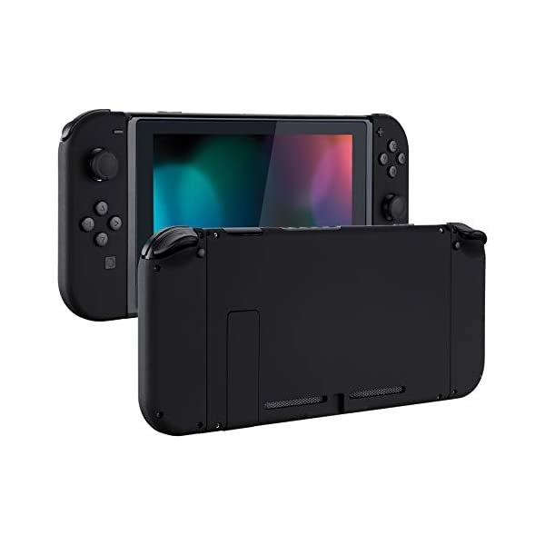 eXtremeRate Soft Touch Grip Back Plate for Nintendo Switch Console, NS Joycon Handheld Controller Housing with Full Set… 1