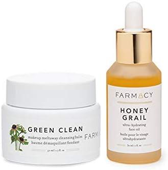 FARMACY ファーマシー 【正規品】ゴールデングリーンデュオ [グリーンクリーン (クレンジングボム) 50ml + ハニー グレイル (フェイスオイル) 30ml FARMACY Golden Green Duo Green Clean 50ml + Honey Grail 30ml [並行輸入品]