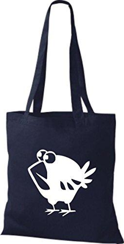 Shirtstown - Bolso de tela de algodón para mujer Azul - azul marino