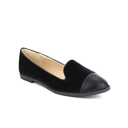 Mocassin VALANTIS Femme Cendriyon Chaussures Noir HAwHqd