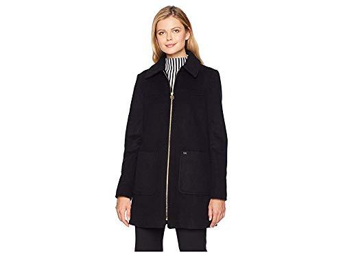 Michael Michael Kors Women's Zip Front Wool with Patch Pockets M123822GZ Black Medium ()
