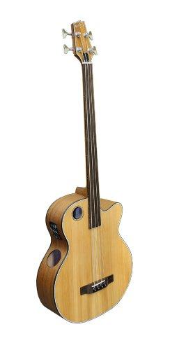 Boulder Creek EBR3-N4F Acoustic-Electric 4-String Fretless Bass by Boulder Creek Guitars