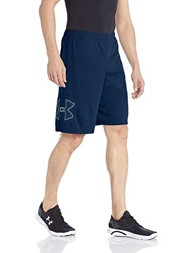 (Under Armour Men's Tech Graphic Short, Steel, X-Small)