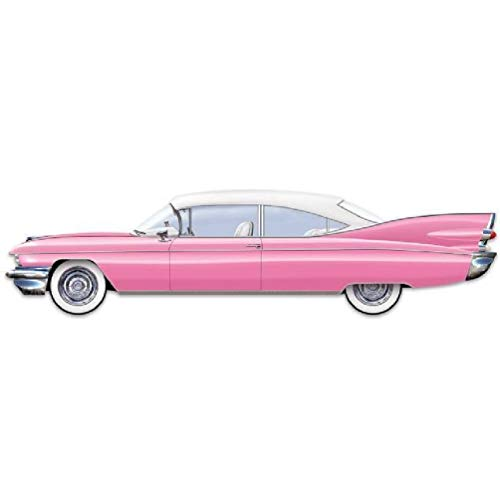 hersrfv home Jointed 50's 6 Foot Cruisin Car Classic Sock Hop Diner Party Decoration