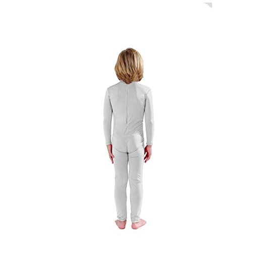 Full Bodysuit Kids Dancewear Without Gloves And Socks Solid Color Lycra Spandex Zentai Child Unitard