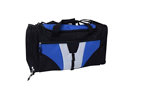 Amaro Sporttasche mit Nassfach, 57 cm, 51 Liter, schwarz-blau-weiss