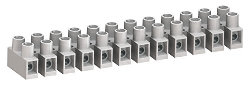 Weco Terminal Blocks - WECO 323-HDS/12-A Connector Block, 2 x 323-HDS/12 Positions, Finger Safe, Cuttable to Smaller Number of Positions, 30 Amp, 300V, Natural (Pack of 2)