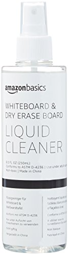 (AmazonBasics Dry Erase Markers Board Liquid Spray Cleaner for Whiteboards - 8.5-Ounce, 1-Pack)