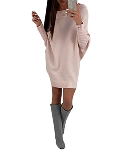 Oversized Crew Neck Sweater Dress | Women Long Sleeve Sweater Dresses