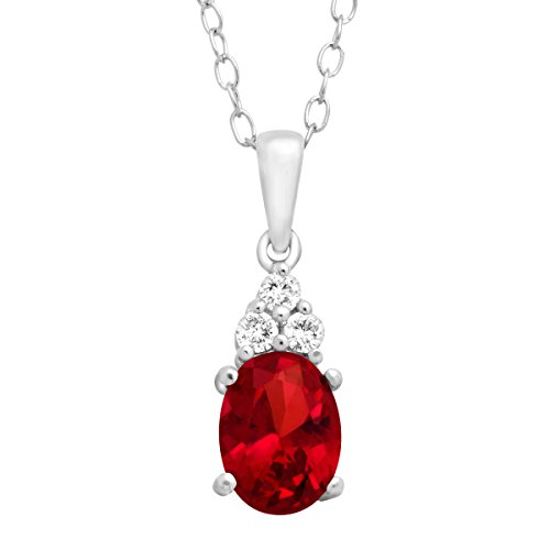 1-34-ct-Oval-Cut-Created-Ruby-and-Natural-White-Topaz-Pendant-Necklace-in-Sterling-Silver-18