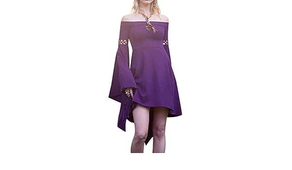 Mujeres Mini Vestido Vintage Traje Medieval Mujer Víspera de Todos ...