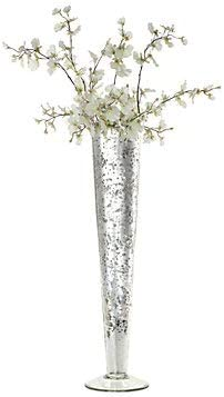 DC Co. Silver Mercury Vase Centerpiece 24 H