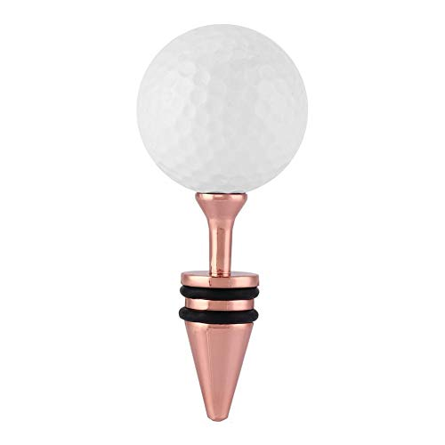 Zerone Zinc Alloy Golf Ball Design Wine Bottle Stopper Golf Gift Souvenir