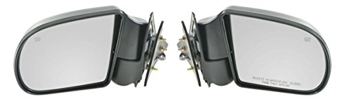Black Power Heated Side Door Mirrors Left & Right Pair Set for Blazer S10 Jimmy